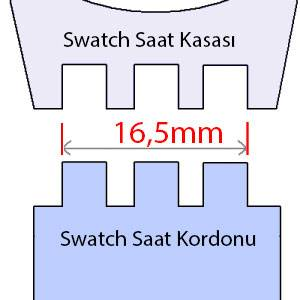 swatch 16,5mm ölçü