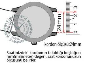 saat kayıs ölçümü 24mm